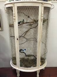 Home Decor Bird Cages Friend Redid Her Wood Curio Cabinet Into A Bird Cage Bird Cages