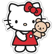 kitty kitty puppet sticker