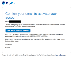 Email Business Account by Paypal Account Easystore