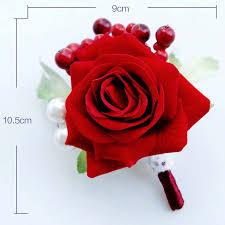 Boutineer Flowers Aliexpress Com Buy 1 Pcs Handmade Article Boutonniere Flowers