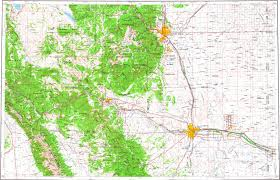 Maps Colorado Springs by Download Topographic Map In Area Of Colorado Springs Pueblo