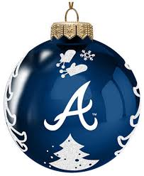 memory company atlanta braves glass tree ornament