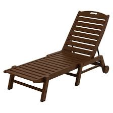 Patio Furniture Loungers Polywood Nautical Wheeled Patio Chaise Lounge Target