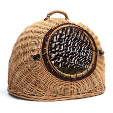 prestige wicker igloo pet carrier basket house large cat wicker
