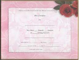 birth certificates page 2 floral