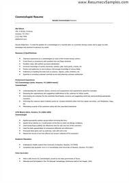 cosmetology resume templates cosmetology resume templates