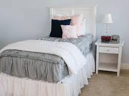 Bed Frame Skirt Gray Polka Dot Bed Skirt Beddy S