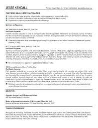 real estate agent resume accomplishments appraiser example free