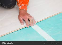 Laying Laminate Floor Boards Installing Laminate Floor With Wooden Texture U2014 Stock Photo