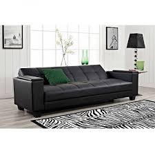 vivo laptop futon with arm storage black