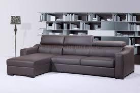 modern leather sleeper sofa brown italian leather modern sleeper sectional sofa regarding