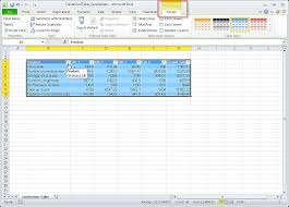 video create an excel table excel