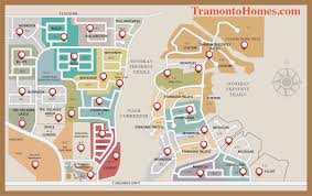 Map Of Phoenix by Map Of The Community Of Tramonto In Phoenix Az Tramonto Homes