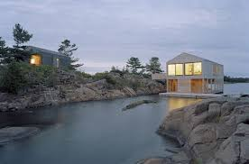 beautiful lake huron floating house by mos inhabitat green floating house on lake huron apartment therapy