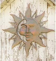 mysterious sunface metal sun wall art wind u0026 weather
