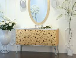 high end patterned bathroom vanity with undermount sink and
