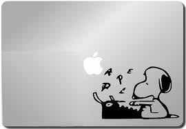 amazon com snoopy typing computer skin apple sticker laptop amazon com snoopy typing computer skin apple sticker laptop sticker macbook decal computer sticker macbook 13 inch vinyl decal sticker skin cover computer