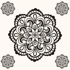 vector henna ethnic mandala set makhenda boho lace tattoo design