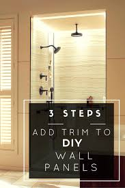 Diy Shower Door by 3 Steps To Add Trim And Borders To Diy Shower Wall Panels