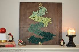 diy christmas tree wall art on mantel at home with the barkers