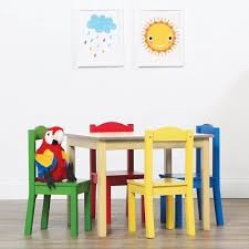 american kids 5 piece wood table and chair set american kids 5 piece wood table and chair set color brown 111 99