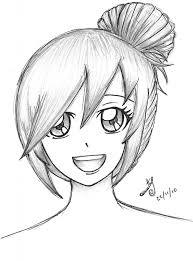 easy anime sketches to draw anime sketch cartoon girls