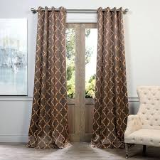 moroccan curtains mandala gold ink on navy window curtains