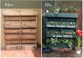 Diy Vertical Pallet Garden - diy vertical pallet garden container gardening flowers gardening