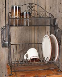 Western Kitchen Ideas by Metal Star Dish Rack Kitchenware Decor U0026 Gifts Fort