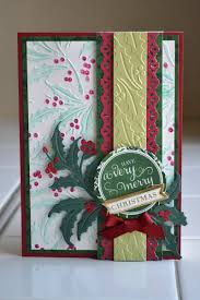 embossing folder christmas card design with back panel colored