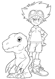 greymon change of agumon coloring page digimon coloring page