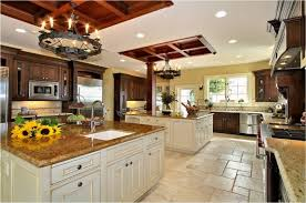 large kitchen ideas beautiful large kitchen ideas with chandeliers and ceramic floor