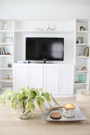 Living Room Built In Living Simple Diy Ikea Hack Built In Tutorial
