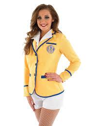 hi de hi female yellow coat costume fs3681 fancy dress ball