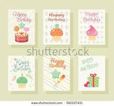 happy birthday invitation card baby greeting stock vector