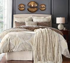 lewis slipcovered headboard pottery barn