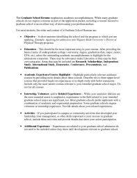 graduate application resume template academic for saneme