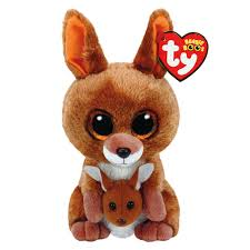 ty beanie boo small kipper the kangeroo plush toy claire u0027s ca