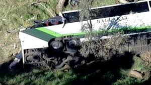 one dead as elderly passengers injured in bus rollover near avoca