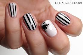 life in lacquer halloween spider nail art
