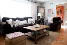 industrial blend living room makeover reveal yellow bliss road