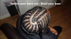 how to braid hair with middle part middle part sew in weave tutorial and braid pattern diva