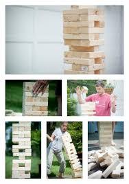 Backyard Jenga Set by Wedding Guest Book Giant Tumbling Blocks Outdoor Yard Games