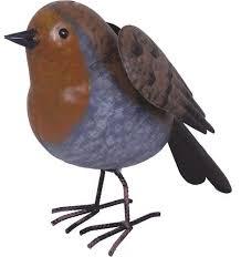 robin metal bird ornament gardenbird