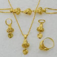 saudi arabia gold earrings anniyo heart jewelry set necklace pendant bracelet earrings ring