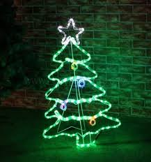 Christmas Rope Light Window Decorations by 88cm Outdoor Led Twinkling Rope Light Christmas Tree Silhouette
