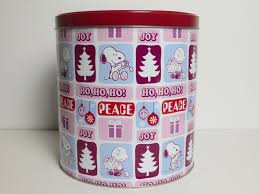 charlie brown christmas metal tin popcorn expressions cookies