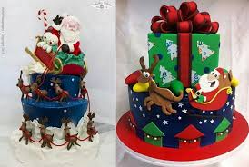 Christmas Cake Decorations Reindeer by Christmas Cakes For Children Cake Geek Magazine