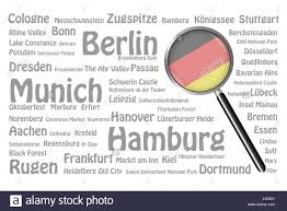 The Germany Flag The Magnifying Glass With The German Flag Is On The Right Side Of