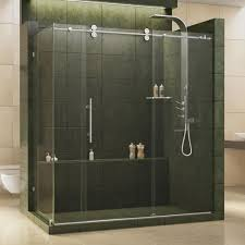 frameless corner shower doors shower doors the home depot enigma 36 in x 72 1 2 in x 79 in